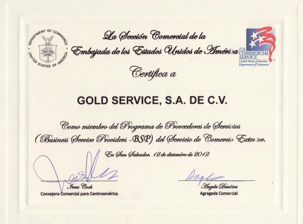 Business Service Provider USA Embassy in El Salvador